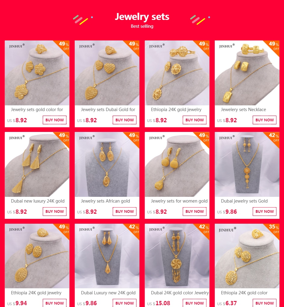 24K gold Jewelry sets Necklace Earrings Ring collares jewellery set for women Dubai African Saudi Arabia bridal wedding gifts